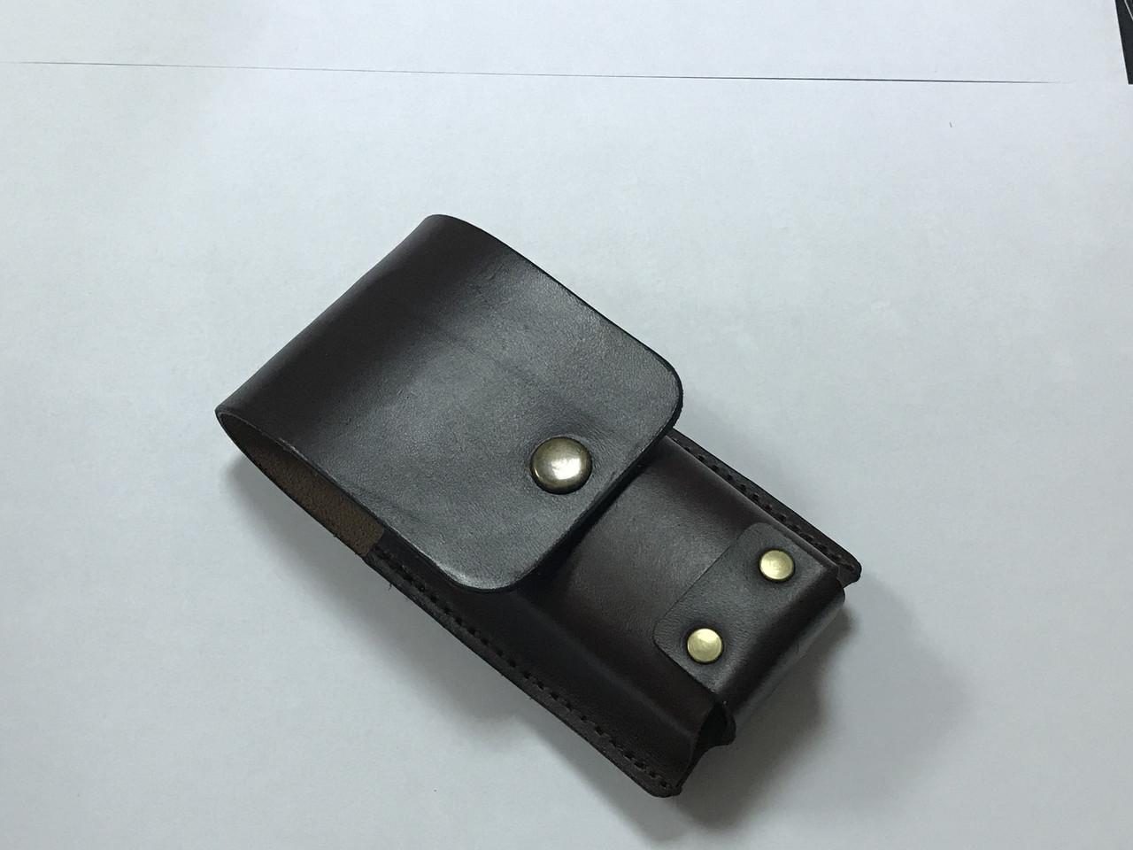 Чехол Hand Made, итальянская кожа, (13,5х4,5 см)