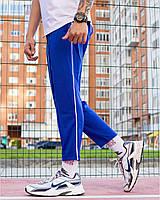 Трикотажные спортивные штаны мужские синие от бренда ТУР модель Кейдж (Cage) размер S, M, L, XL