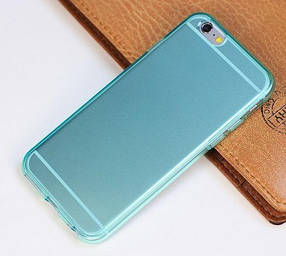 """Чехол """"Ультратонкий"""" для iPhone 6, голубой (силиконовый)"""