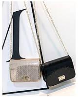 Женская лаковая маленькая сумочка