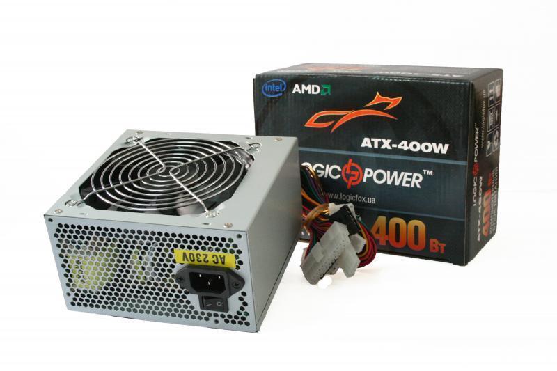 Блок питания LogicPower 450W ATX-450W, 120 mm, 20+4pin, 1x4pin, SATA х 2, кабеля