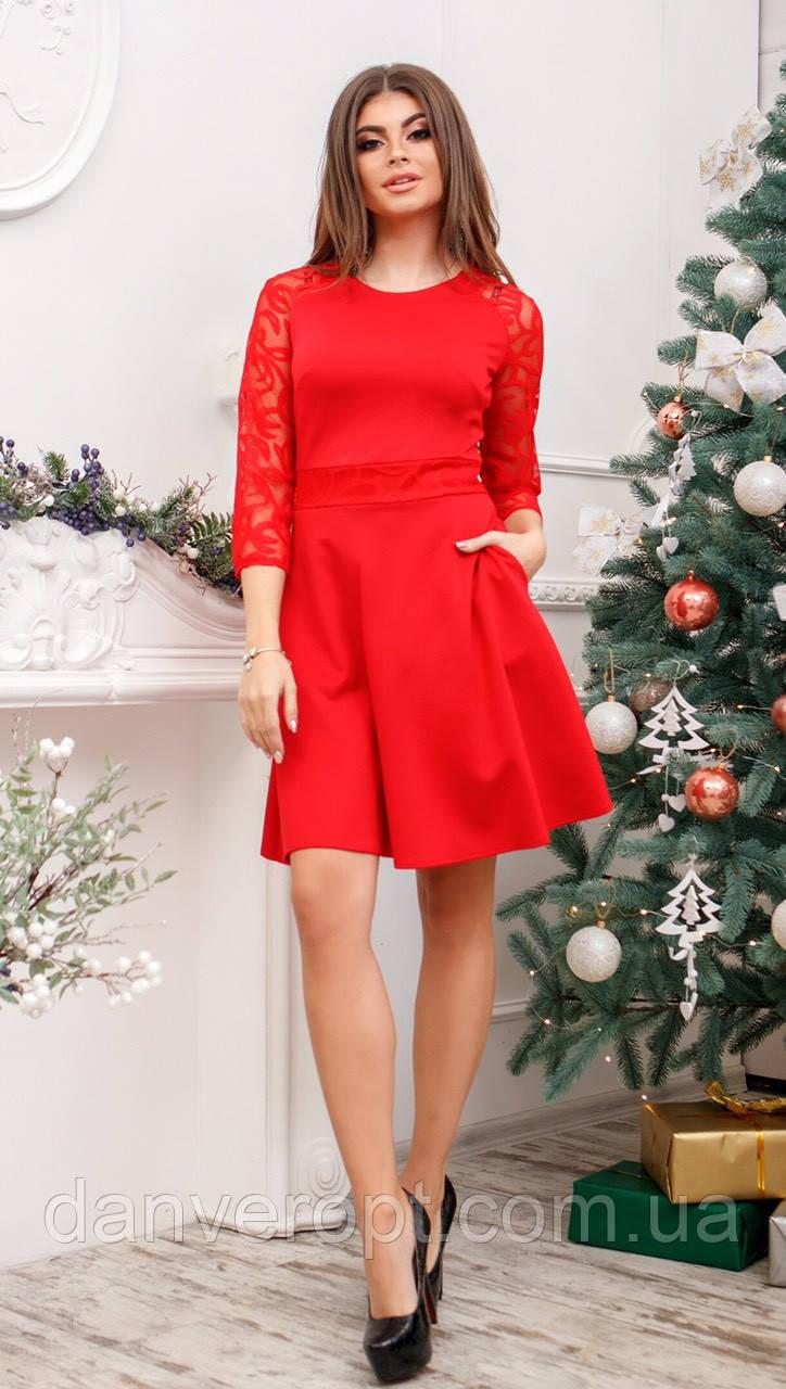 Платье женское стильное размер 44-48 купить оптом со склада 7км Одесса