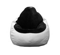 Кресло мешок PufOn, Гибрид XL, Белый, Черный