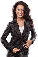Молодежная женская косуха с шипами, куртка весенняя
