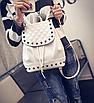 Рюкзак женский городской кожзам с камнями Бежевый, фото 3