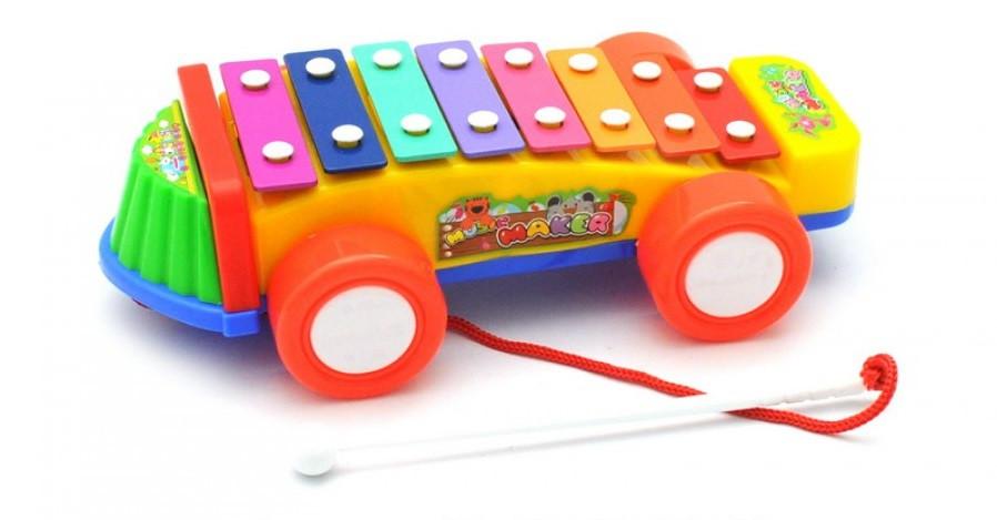 Детский ксилофон каталка Musik maker 3051, 8 тонов