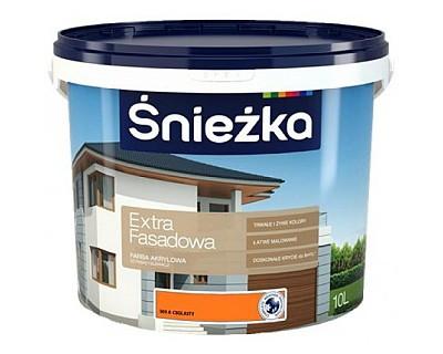Акрилова емульсійна фарба для фасадів ŚNIEŻKA Extra Fasadowa 303А ЦЕГЛЯНИЙ, 5л, Польща