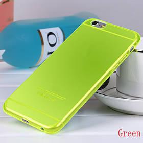 """Чехол """"Ультратонкий"""" для iPhone 6, желтый ( прозрачный )"""
