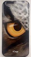 """Чехол силиконовый Puro Wild Eye """"Owl"""" для iPhone 6 (оригинал)"""