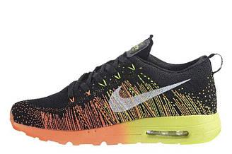 Оригинальные мужские кроссовки Nike Air Max Flyknit Running 02 | найк аир макс черные 44