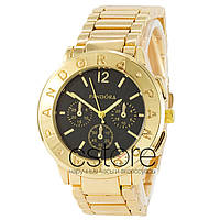 Женские наручные часы Pandora 6028 желтое золото с черным циферблатом  (22458) 2972c40f448