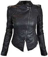 Модная женская куртка-косуха с шипами,куртка с шипами