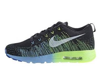 Мужские кроссовки Nike Air Max Flyknit Running 01 | найк аир макс черные оригинал