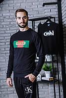 Свитшот чёрный Gucci logo   Кофта топ   Best shop , фото 1