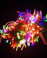 Гірлянда 500 неон LED STRING МУЛЬТИ/прозорий силікон D=1,33мм/Довжина 32м/40шт. /ящ (арт. 1150-01)