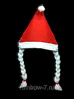 Шапка новорічна Діда Мороза з косичками 12 шт. cfb94453ef6c7