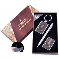 Подарочный набор Скорпион Ручка/ Брелок/ Зажигалка (Острое пламя) №AL-203A-3