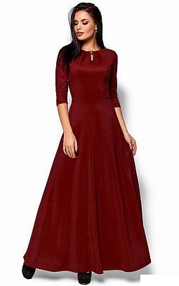 (S, M, L) Довге марсалове вечірнє плаття Lilit