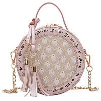 Женская пудровая женская сумка