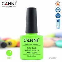 Гель-лак CANNI № 003 ( неоновый салатовый )