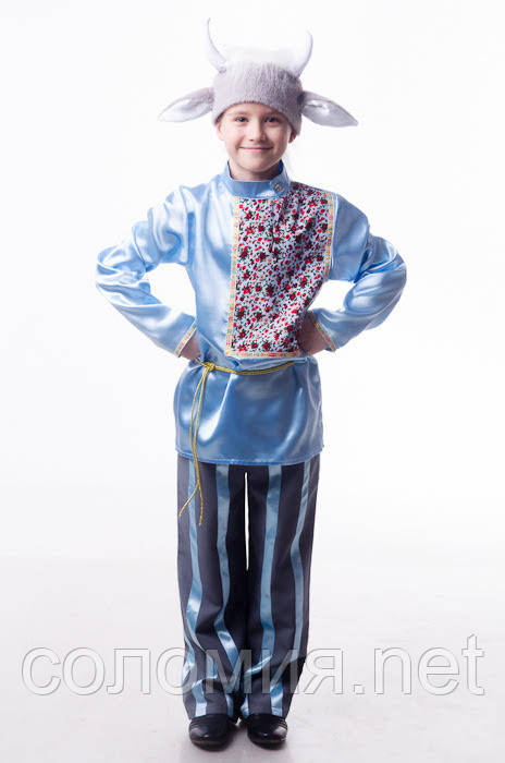 Детский карнавальный костюм для мальчика Козлик 110-128р