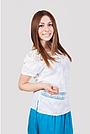 Летняя женская блуза с кружевным украшением