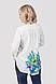 Блуза женская с великолепными летними цветами , фото 2