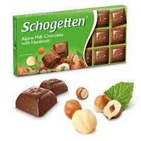 ШоколадSchogetten Alpine Milk Chocolate with Hazelnuts (молочныйсорехами)