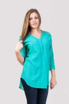 Летняя женская блуза с прошвой (в расцветках)