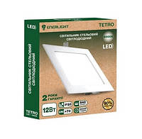 Світильнік стельовий світлодіодний ENERLIGHT TETRO 12Вт 4000К ш.к. 4823093500624