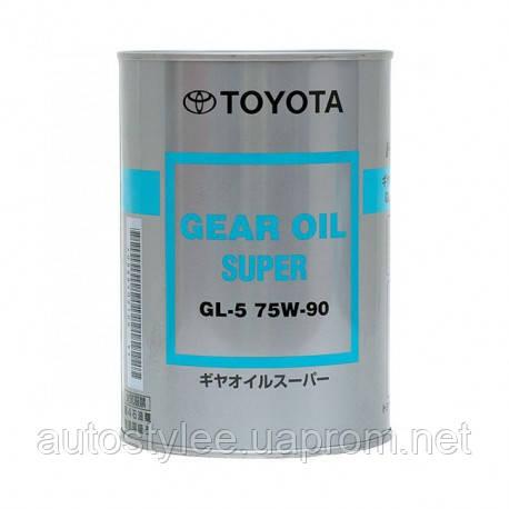 Масло трансмиссионное Toyota Gear Oil Super 75W-90 GL-5 (0888502106) 1 л.