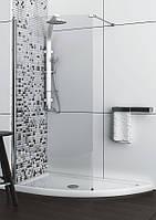 Асимметричная душевая кабина Aquaform SOLITARE с белым поддоном 1520x800x2070