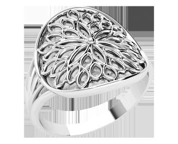 Кольцо  женское серебряное Sunny flower 21275