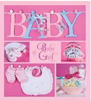 Детский альбом для фото EVG 10X15X56 BKM4656 BABY COLLAGE PINK (UA), 6239796