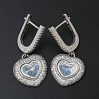 "Серебряные серьги ""Chopard Happy Diamonds"""