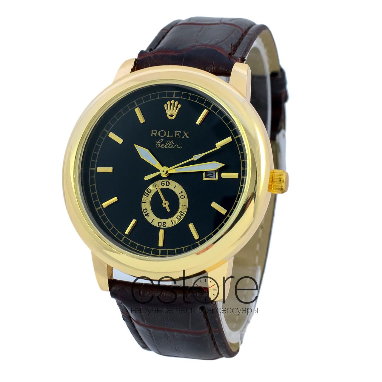 df6c15d373cf Мужские Наручные Копия Часы Rolex B68 Желтое Золото с Черным Циферблатом  (23062) — в Категории