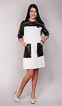 Модное молодежное платье с кожей - Гламур