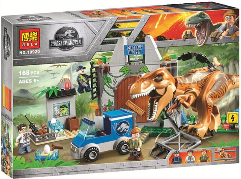 """Конструктор Bela 10920 """"Побег Ти-Рекса"""" (аналог Lego Juniors 10758), 168 дет."""