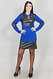 Модное молодежное платье с кожей  Инфинити  - от производителя, фото 4