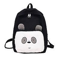 Рюкзак черный Панда