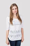 Летняя женская блуза с прошвой