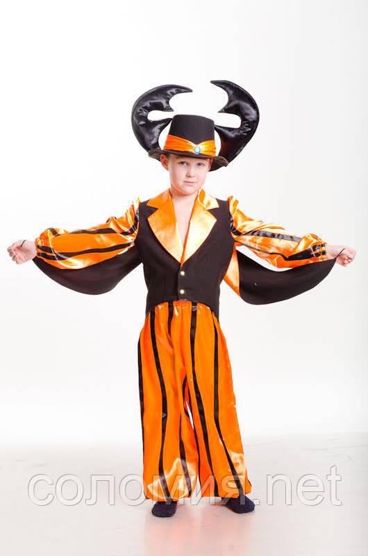 Детский карнавальный костюм для мальчика Жук 110-140р