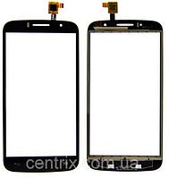Тачскрин (сенсор) для Alcatel One Touch 7040N Fierce 2, черный