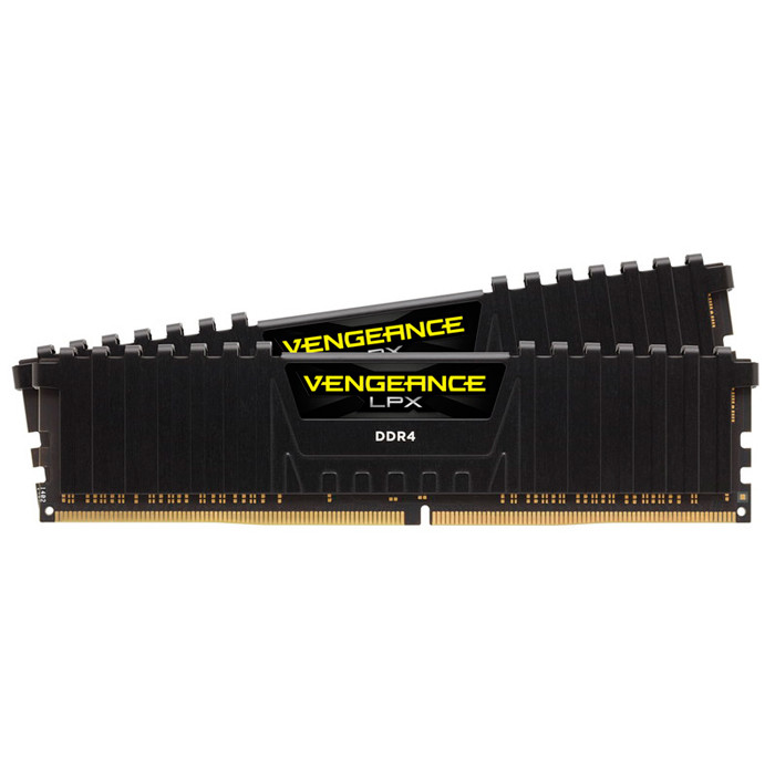 Память 8Gb x 2 (16Gb Kit) DDR4, 2666 MHz, Corsair Vengeance LPX, Black, 13-15-15