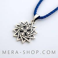 Талисман Звезда Эрцгаммы из серебра с камнями (двухсторонняя)