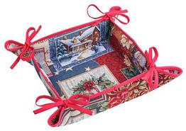 Хлебница гобеленовая Limaso Рождество 25х25 см EDEN483-KH, КОД: 147495