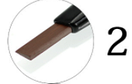 Карандаш для бровей Popfeel № 2 (коричневый), фото 2