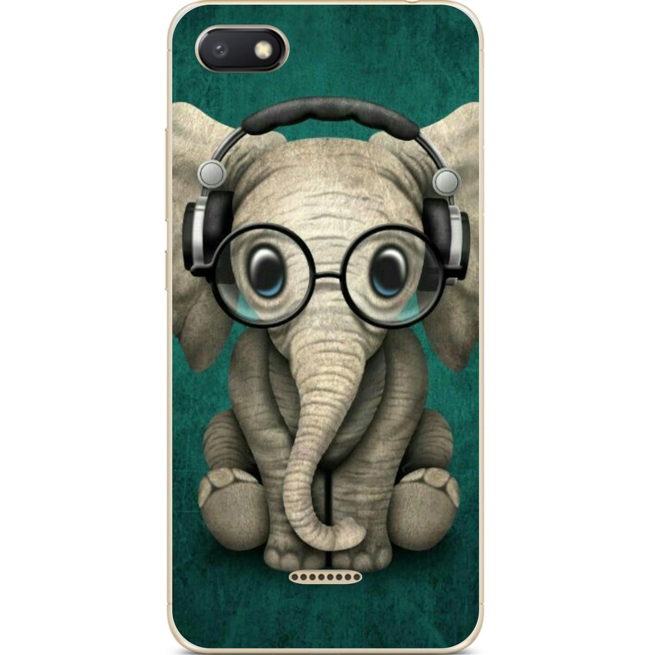 Картинка прикольная слона в наушниках