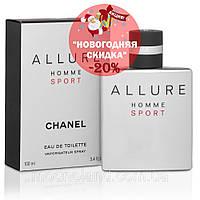 Мужская туалетная вода Chanel Allure Homme Sport 100 ml (Шанель Аллюр Хом Спорт)