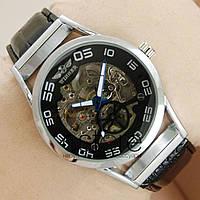 dd754c349e63 Киев. Мужские наручные оригинальные часы Winner серебро с черным  циферблатом (23655)